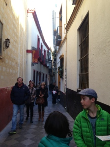 Wandering through the narrow streets of the Barrio (the Jewish Quarter)