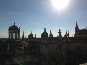 A view from the Bell Tower of Seville's Cathedral.