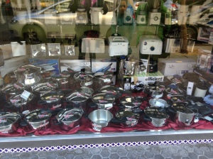 A storefront; A plethora of Pressure Cookers!!