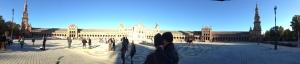 Panorama of the Semicircular Plaza de España