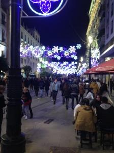Pedestrian Plazas are abundant in Sevilla.